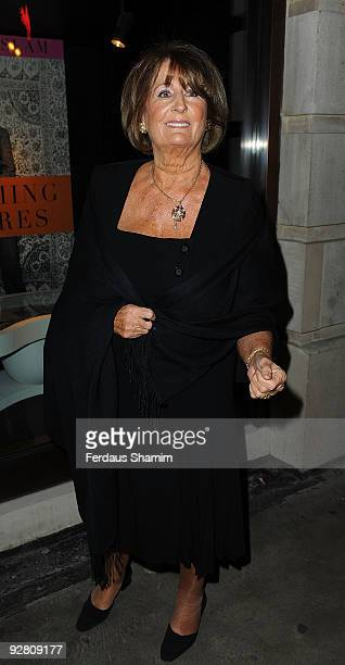 Lady Annabel Goldsmith attends the book launch party for Nicky Haslam's autobiography 'Redeeming Features' on November 5 2009 in London England