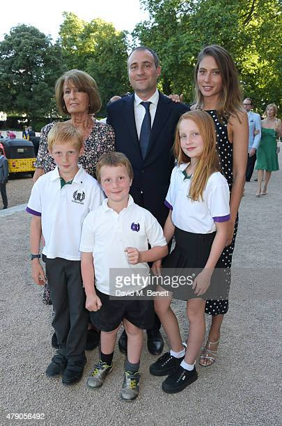 Lady Annabel Goldsmith Ben Goldsmith and Jemima Jones pose with Ben's children at the Quintessentially Foundation and Elephant Family's Royal...