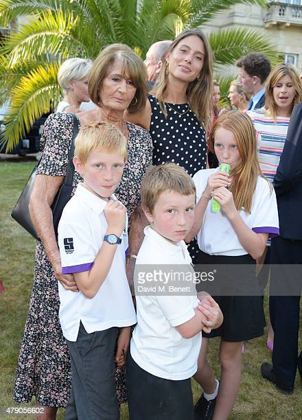Lady Annabel Goldsmith Jemima Jones and children attend the Quintessentially Foundation and Elephant Family's Royal Rickshaw Auction presented by...