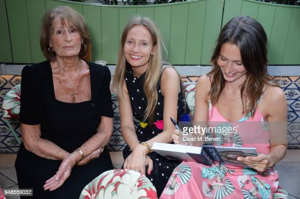 Lady Annabel Goldsmith Martha Ward and Jemima Jones attend the launch of new book A Love Of Eating Recipes From Tart London by Lucy CarrEllison and...