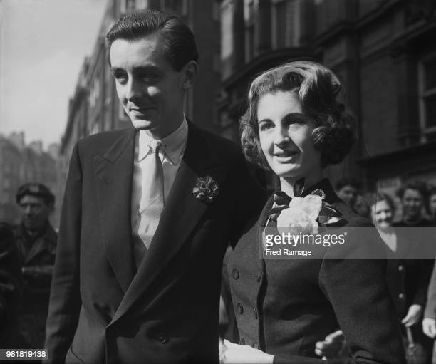 Lady Annabel VaneTempestStewart daughter of the 8th Marquess of Londonderry marries Mark Birley son of artist Sir Oswald Birley at Caxton Hall in...