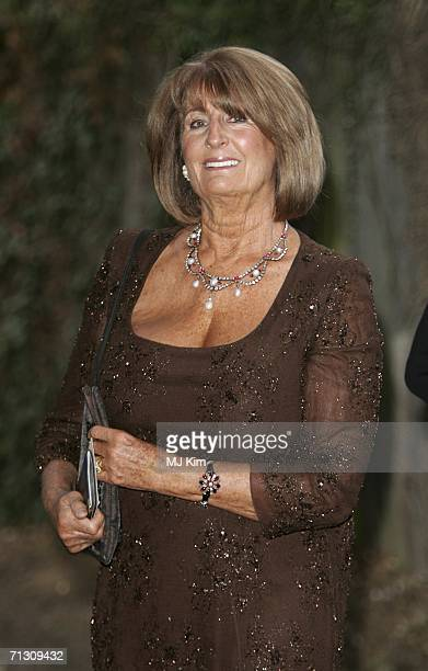 Lady Annabelle Goldsmith arrives at the fundraising event 'Elephant Durbar' arranged by Londonbased charity elephant family on June 27 2006 in...