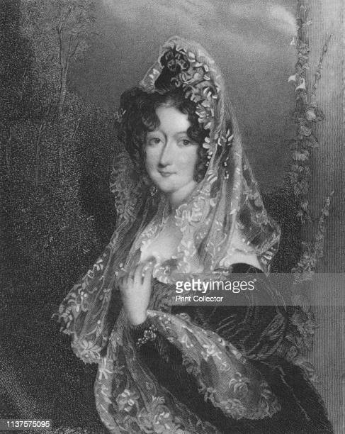 Lady Anstruther' 1850s Portrait of a woman wearing a lace veil possibly Janet CarmichaelAnstruther Artist Parker