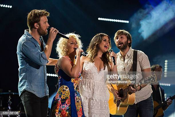 Lady Antebellum and Cam perform during the 2016 CMA Music Festival at Nissan Stadium on June 9 2016 in Nashville Tennessee