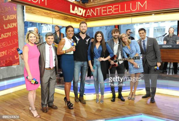 """Lady Antebellum perform live on """"Good Morning America,"""" Monday, June 12 airing on the Walt Disney Television via Getty Images Television Network. AMY..."""