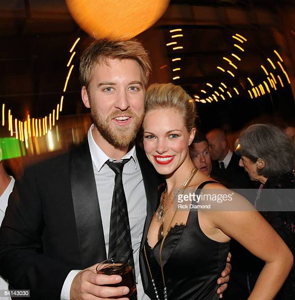 NASHVILLE TN NOVEMBER 12 Lady Antebellum's Charles Kelley and Girlfriend Cassie McConnell attendsThe 42nd Annual CMA Awards Capitol Records Post...