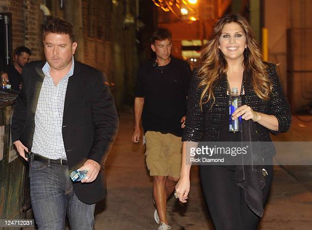 Lady Antebellum's Hillary Scott before performing songs from there upcoming release Own The Night along with eariler favorites during the first of 3...