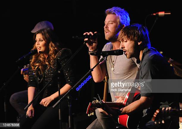 Lady Antebellum's Hillary Scott Charles Kelley and Dave Haywood perform songs from there upcoming release Own The Night along with eariler favorites...