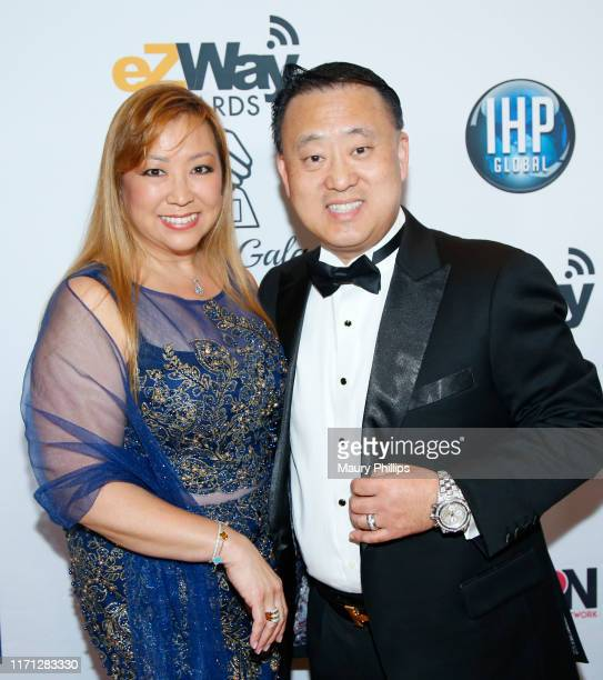 Lady Arlene and Sir John Shin attend the eZWay Awards Golden Gala at Center Club Orange County on August 30 2019 in Costa Mesa California