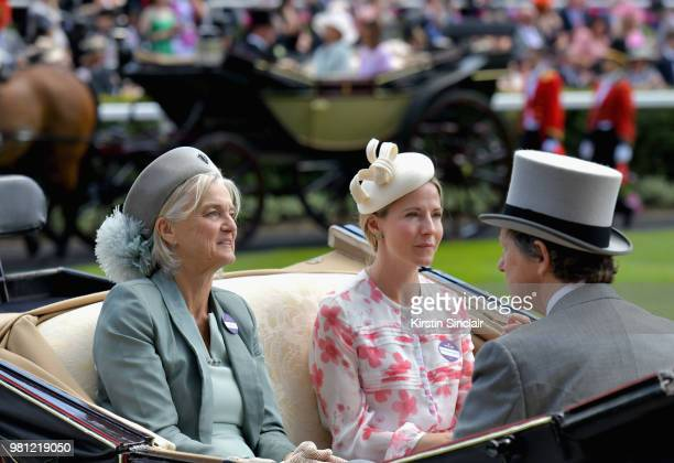 Lady Bacon The Hon Mrs Edward Tollemache and The Hon Mrs Edward Tollemache on day 4 of Royal Ascot at Ascot Racecourse and The Hon Mrs Edward...
