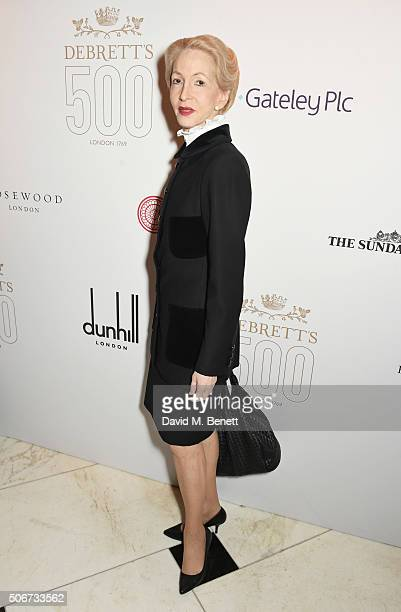 Lady Barbara Judge attends Debrett's 500 party hosted at Rosewood London on January 25 2016 in London England Debrett's 500 recognises the most...