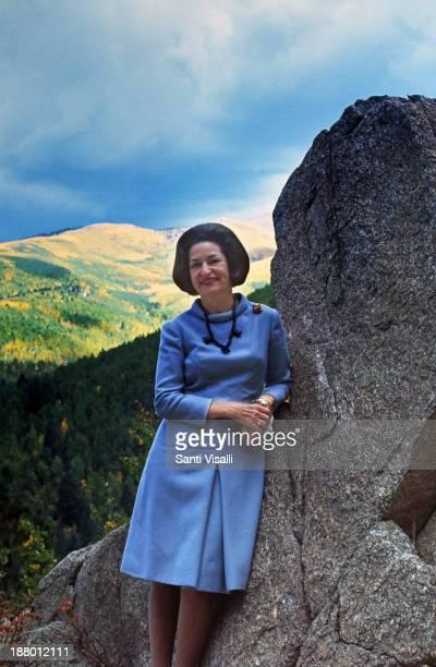 Lady Bird Johnson posing for a photo on May 7 1964 in Phoenix Arizona