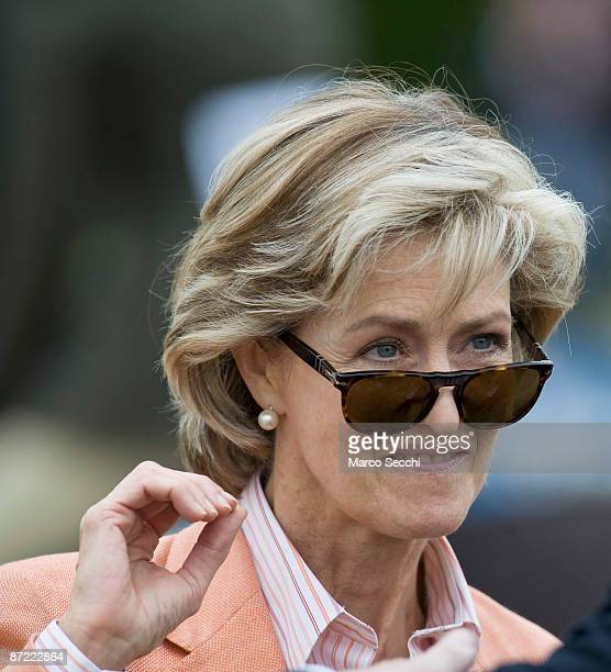 Lady Brabourne watches a Riding for the Disabled class on the second day of the Windosr Horse Show on May 14 2009 in Windsor England