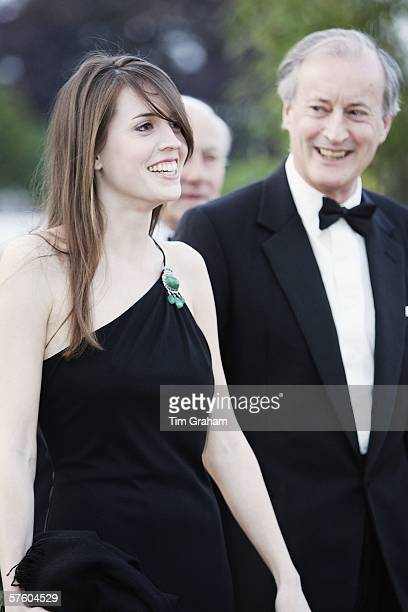 Lady Brabourne with his daughter Alexandra arrives for a party/dinner at the Royal Windsor Horse Show on May 12 2006 in Windsor England