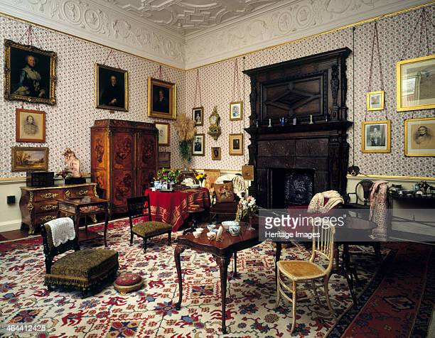 Lady Braybrooke's Sitting Room Audley End House Saffron Walden Essex 1994 This is an example of the taste in the late Victorian period for 'busy' or...