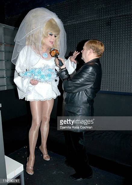 """Lady Bunny and Barry Z during John Cameron Mitchell and Josh Wood Present """"Wed Rock: a Benefit for Freedom to Marry"""" at Crobar in New York City, New..."""