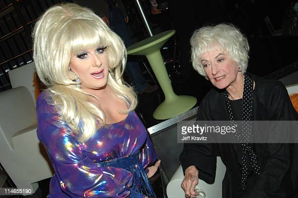 Lady Bunny and Bea Arthur during Comedy Central Roast of Pamela Anderson Backstage Green Room and Audience at Sony Pictures Studios in Culver City...