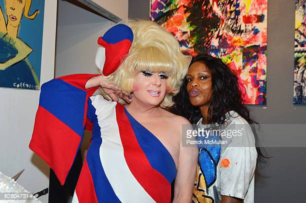 Lady Bunny and Guest attend Patricia Field Art Basel Debut with Art Fashion Pop Up and Runway Presentation at The White Dot Gallery in Wynwood on...