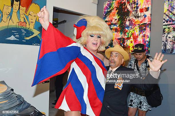 Lady Bunny and Guest attend the Patricia Field Art Basel Debut with Art Fashion Pop Up and Runway Presentation at The White Dot Gallery in Wynwood on...