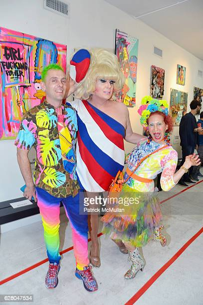 Lady Bunny and Guests attend the Patricia Field Art Basel Debut with Art Fashion Pop Up and Runway Presentation at The White Dot Gallery in Wynwood...