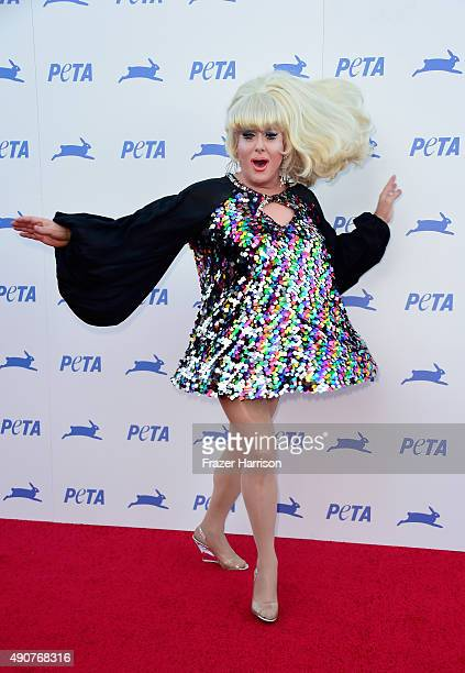 Lady Bunny arrives at PETA's 35th Anniversary Party at Hollywood Palladium on September 30, 2015 in Los Angeles, California.