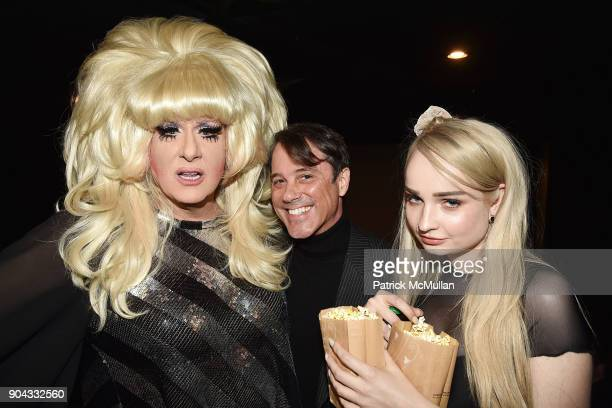 Lady Bunny Bryan Rabin and Kim Petras attend The Cinema Society Bluemercury host the premiere of IFC Films' 'Freak Show' at Landmark Sunshine Cinema...