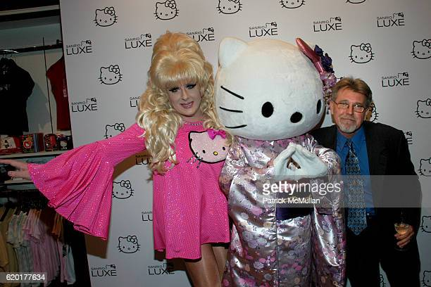 Lady Bunny Hello Kitty and Randy Patterson attend SANRIO LUXE Store Opening at 42nd Street on November 11 2008 in New York City