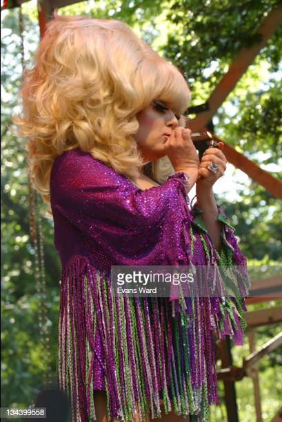 Lady Bunny performing an ode to Whitney Houston during Howl! - 1st Annual Festival of East Village Arts Presentation of Wigstock at Tompkins Square...