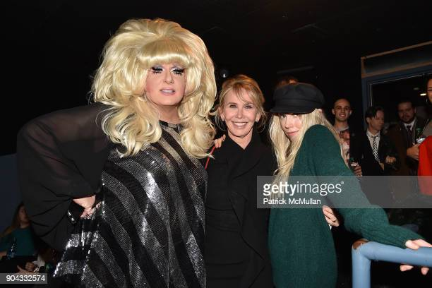Lady Bunny Trudie Styler and Theodora Richards attend The Cinema Society Bluemercury host the premiere of IFC Films' 'Freak Show' at Landmark...