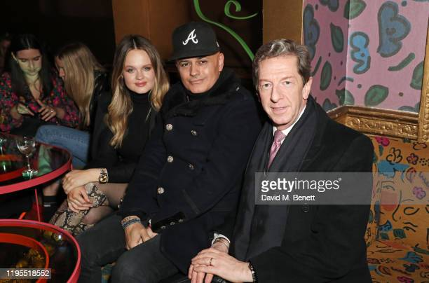 Lady Camilla De La Poer Beresford Stuart Watts and Maurice Mullen attend the launch of Muse by Coco De Mer at Sketch on January 23 2020 in London...