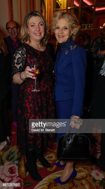 Lady Carnarvon and Baroness Fiona Shackleton attend the launch of new book At Home At Highclere Entertaining At The Real Downton Abbey By The...