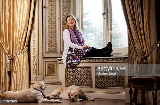 Lady Carnarvon relaxes in the music room of Highclere Castle on March 15, 2011 in Newbury, England. Highclere Castle has been the ancestral home of...