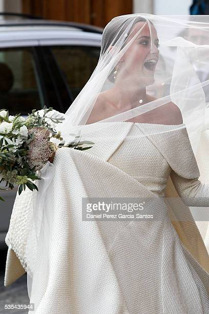 Lady Charlotte Wellesley attends her wedding with Alejandro Santo Domingo at Illora on May 28, 2016 in Granada, Spain.