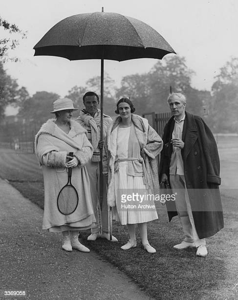 Lady Clementine Churchill the wife of Winston Churchill with Sir Neville Pearson Mrs Guest and Lionel Guest at St Dunstan's Tennis Courts in Regents...