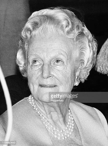 Lady Clementine Churchill widow of Sir Winston Churchill at a literary lunch in London on 3rd February 1971