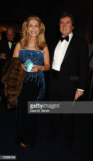 Lady Colin Campbell and guest attend the Red Cross London Ball at The Room By The River on November 16 2006 in London England