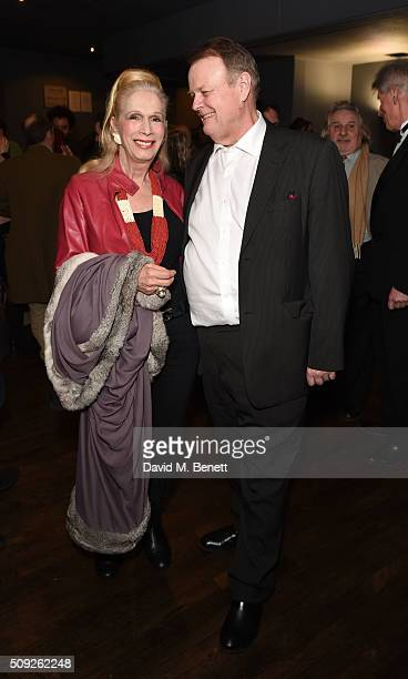 "Lady Colin Campbell and Martin Zippo Burton attend the Press Night performance of ""Cirque Berserk!"" at The Peacock Theatre on February 9, 2016 in..."