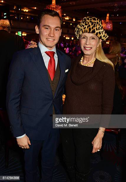 Lady Colin Campbell and son Dima Campbell attend the TRIC Awards at Grosvenor House Hotel at The Grosvenor House Hotel on March 8 2016 in London...