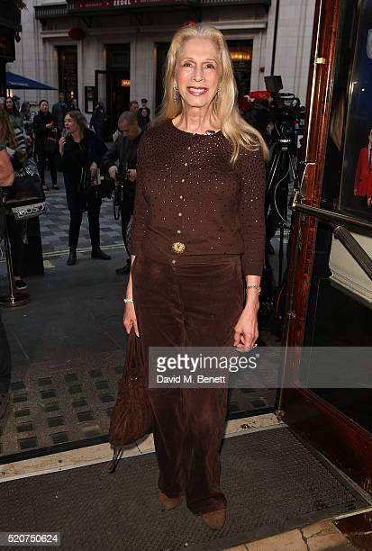 "Lady Colin Campbell arrives at the 8th anniversary gala performance of ""Jersey Boys"" at the Piccadilly Theatre on April 12, 2016 in London, England."