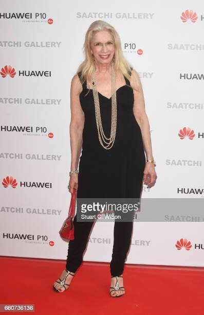 Lady Colin Campbell arrives at the Saatchi Gallery for its new exhibition 'From Selfie to SelfExpression' on March 30 2017 in London United Kingdom