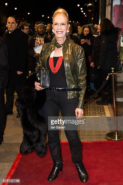 Lady Colin Campbell arrives for the Gala performance of 'The Maids' at Trafalgar Studios on February 29 2016 in London England