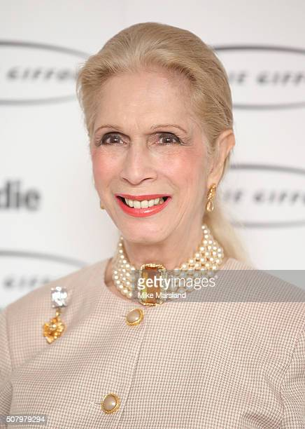 Lady Colin Campbell arrives for the 'Oldie Of The Year Awards' at Simpsons in the Strand on February 2 2016 in London England