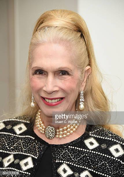 Lady Colin Campbell attends Saatchi's first ever all female show to mark the Gallery's 30th Anniversary at The Saatchi Gallery on January 12 2016 in...