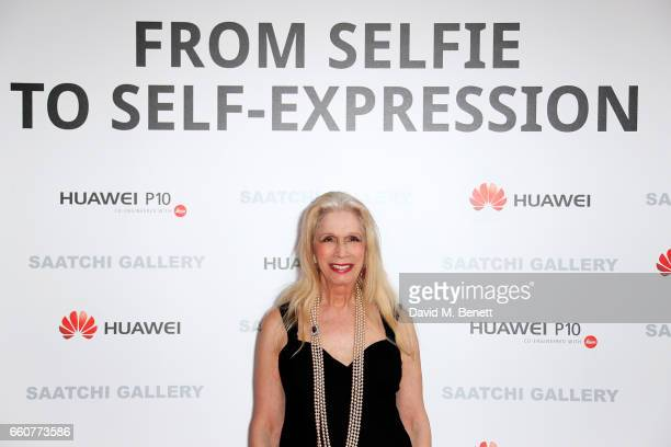 Lady Colin Campbell attends the 'From Selfie To SelfExpression Exhibition presented by Huawei in partnership with the Saatchi Gallery on March 30...