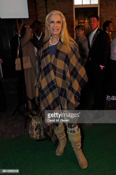 Lady Colin Campbell attends the opening of the new Labassa Woolfe antiques and tailoring boutique store on April 5, 2017 in London, England.