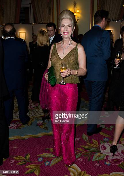 Lady Colin Campbell attends the Royal Portraits Exhibition at The Ritz London on April 19 2012 in London England