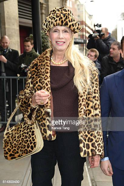 Lady Colin Campbell attends the TRIC Awards 2016 at Grosvenor House Hotel at The Grosvenor House Hotel on March 8 2016 in London England