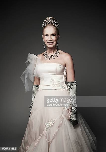 Lady Colin Campbell poses in the Portrait Studio during the 21st National Television Awards at The O2 Arena on January 20 2016 in London England
