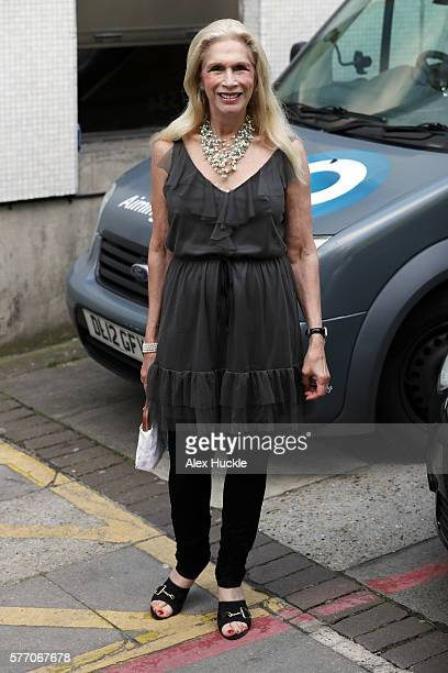 Lady Colin Campbell seen leaving the ITV Studios after an appearance on 'Loose Women' on July 18, 2016 in London, England.