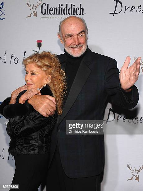 Lady Connery and Sir Sean Connery attend the 7th annual Dressed To Kilt charity fashion show at M2 Lounge on March 30 2009 in New York City
